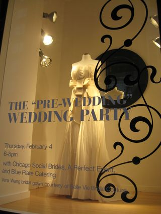 Back out on the avenue and dark outside this vera wang window